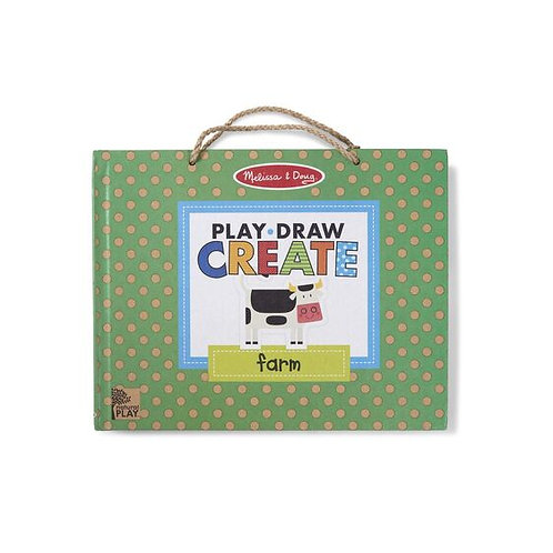 Melissa & Doug - Play, Draw, Create Reusable Drawing & Magnet Kit - Farm