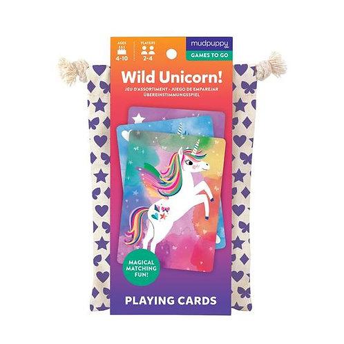 Mudpuppy - Wild Unicorn - To Go Card Game