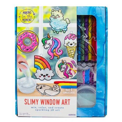 Making in the Moment - Slimy Window Art - Suncatchers
