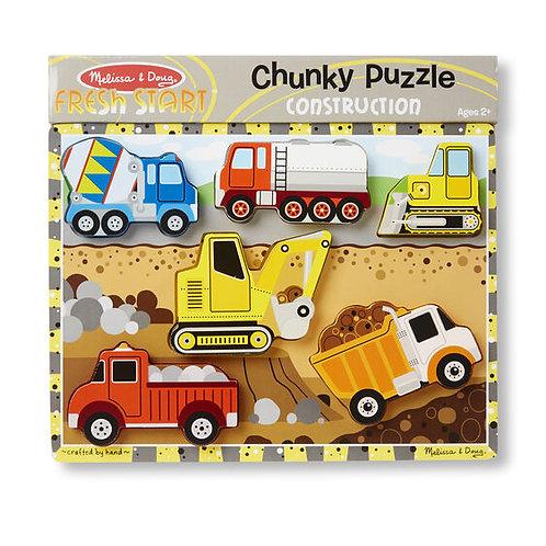 Melissa & Doug - Chunky Puzzle - Construction