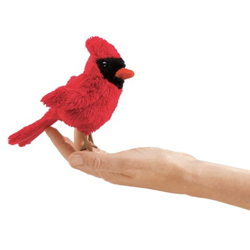Folkmanis Finger Puppet - Mini Cardinal