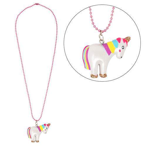 Pink Poppy - Unicorn Ball Chain Necklace