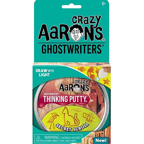 "Crazy Aaron's Thinking Putty - 4"" Ghostwriters - Secret Scroll"