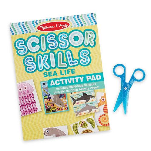 Melissa & Doug - Sea Life Scissor Skills Activity Pad