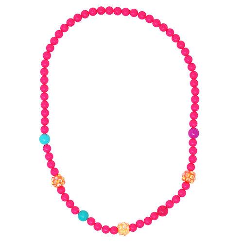 Pink Poppy - Pink - Sparkling Beads Necklace & Bracelet Set