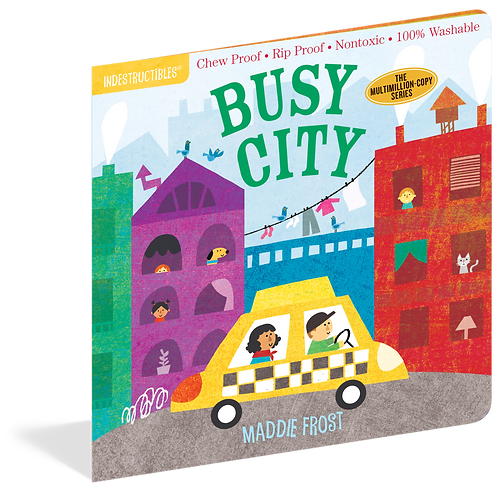 Workman Publishing - Indestructibles - Baby Books - Busy City