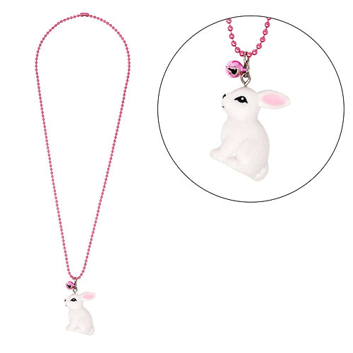 Pink Poppy - Bunny Ball Chain Necklace