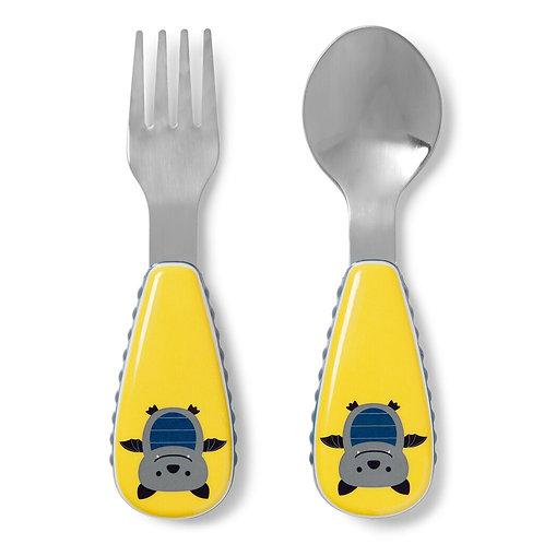 Skip Hop - Zootensils Fork & Spoon Set -  Bat