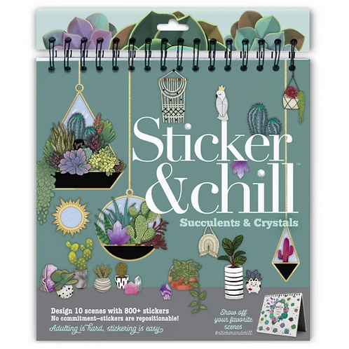 Ann Williams - Sticker and Chill - Succulents & Crystals