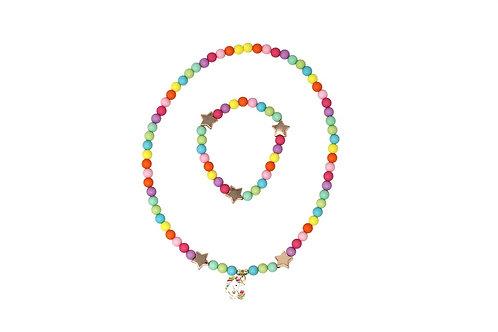 Pink Poppy - Little Unicorn Necklace & Bracelet Set