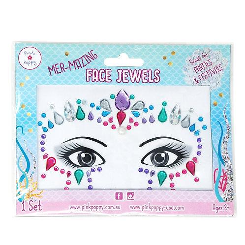 Pink Poppy - Carnival Mermazing Face Jewels
