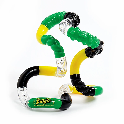 Tangle -  Textured Tangle Jr. - Black, Green, and Yellow