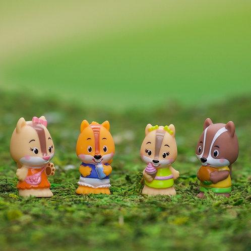 Fat Brain Toys - Timber Tots - Nutnut Family Set of 4