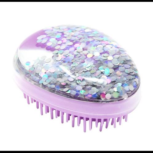 Pink Poppy - Purple - Shimmer and Shine Detangling Brush