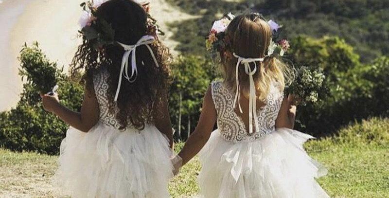 Paradise Backless Lace Tutu Dress - White