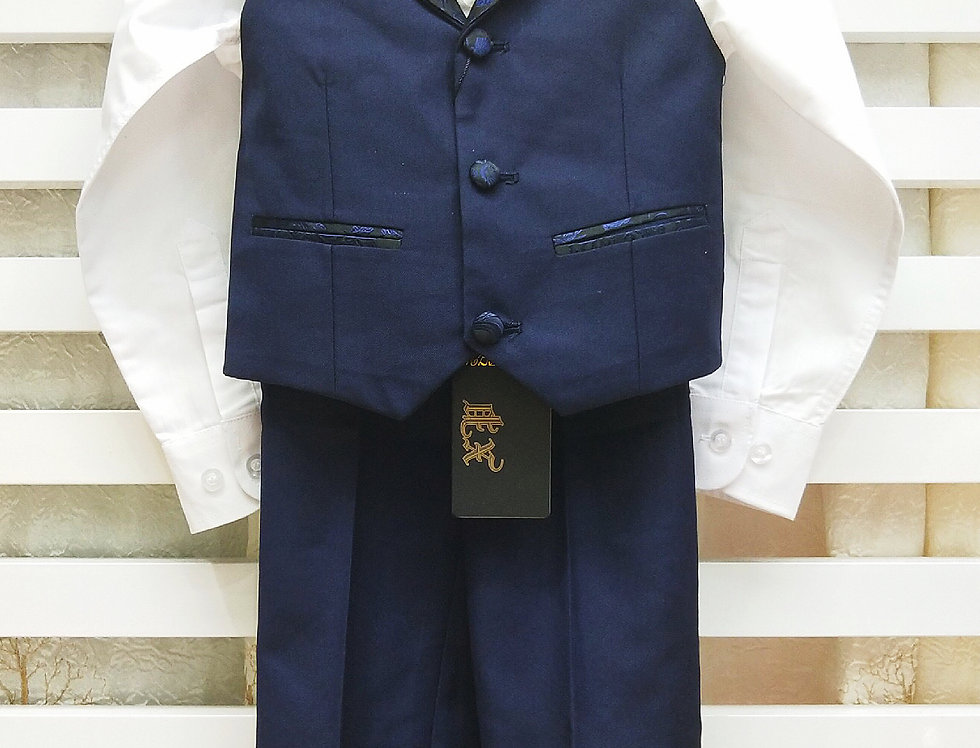 Navy Waistcoat and Suit Pants