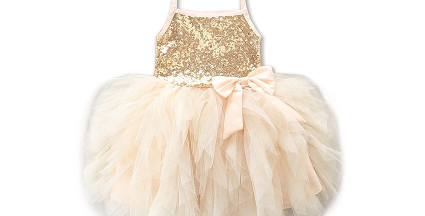 Tutu Brace Kilt with Multilayer Lace- Cream Color
