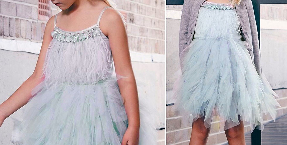 Swan Queen Tutu Dress-Reseda
