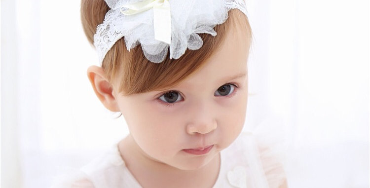 Hair Band with Flower &Bow-knot