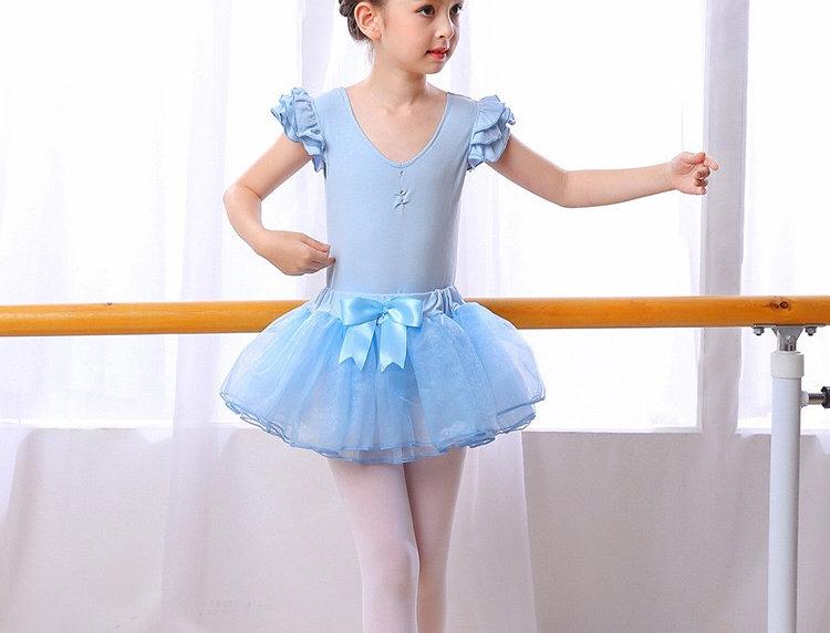 Ballerina Dress with removable Tutu Skirt - Light Blue