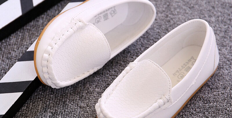 Leather Moccasins -White