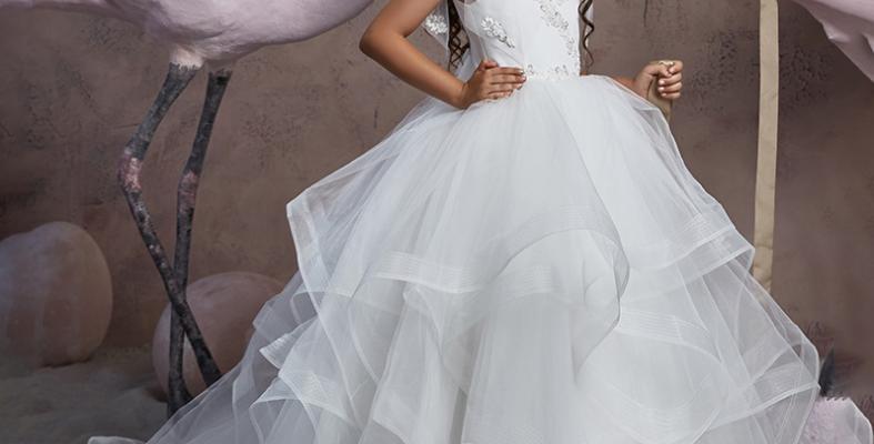 Silk ribbon lace white pompadour skirt