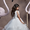 Thumbnail: Silk ribbon lace white pompadour skirt