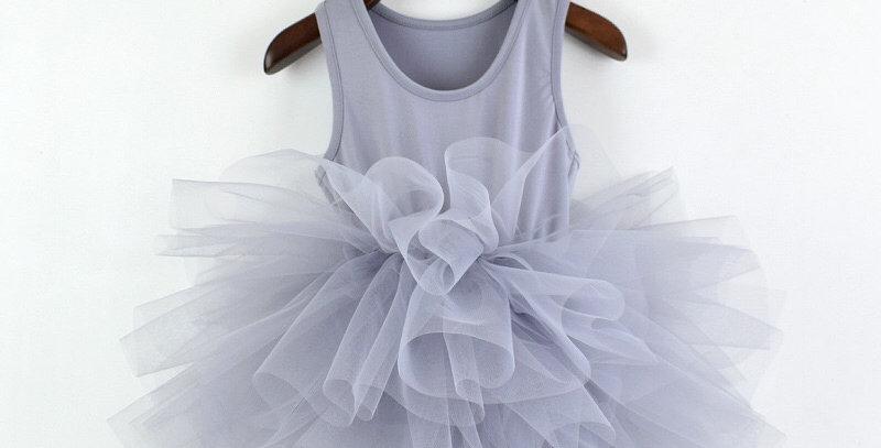 Ballerina Outfit Tutu Skirt- Grey