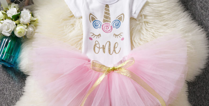 1st or 2rd Birthday Girl Tutu Dress