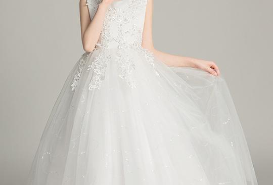 Off White Long Pearl Dress