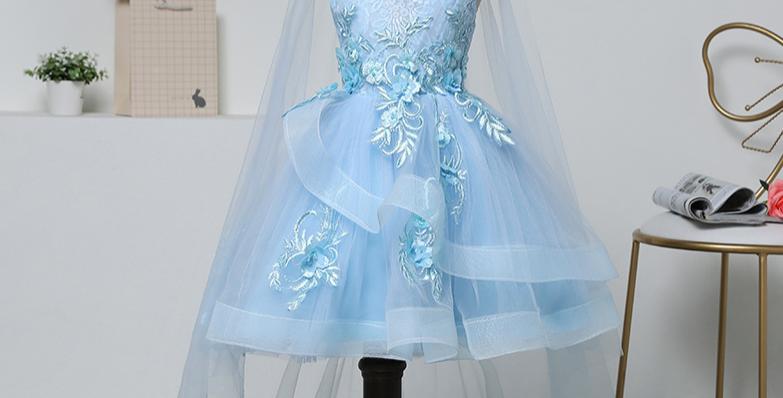 Blue Forzen Dress with Cloak