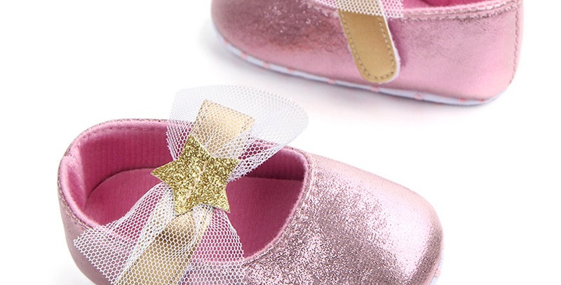 Pink Shining Shoe with Gold Star