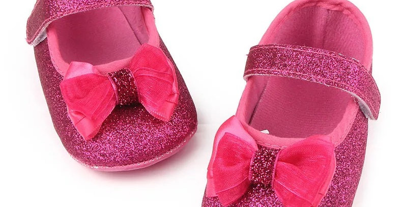 Gold/Pink Shoe with Bowknot