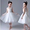 Thumbnail: Lace Layer of Flower Girl Short Dress