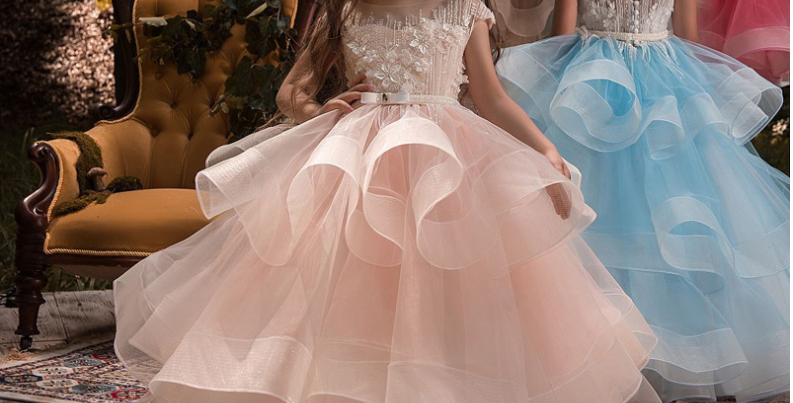 The pearl flower princess dress