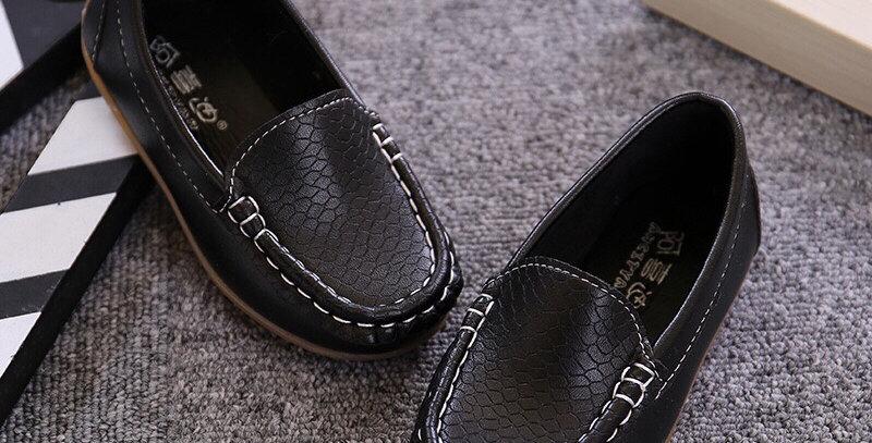 Leather Moccasins -Black
