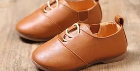 Formal Leather Shoes-Brown