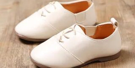 Formal Leather Shoes-White