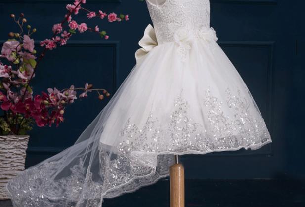 Pure White Shinning Princess Dress