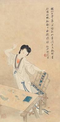 織繡美人圖