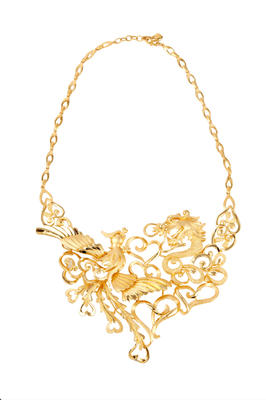 999.9 Chuk Kam Dragon-and-phoenix Necklace for Women