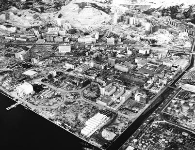 Aerial view of Kwun Tong