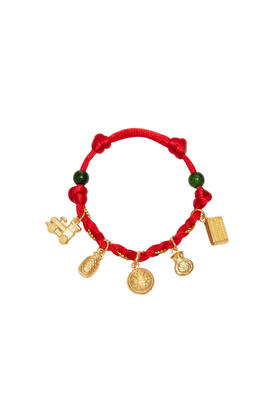 999.9 Chuk Kam Charms with Red Wrist Thread