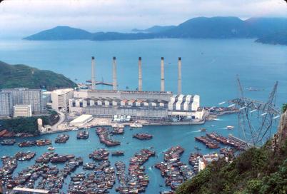 View of Ap Lei Chau Power Station from Mount Kellett
