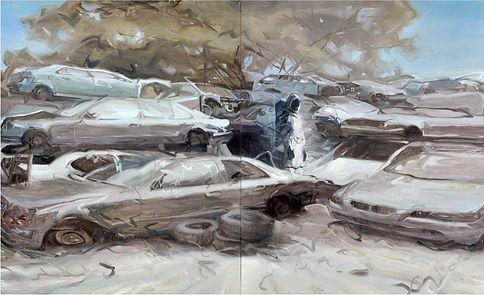 半個人的時代-湮沒_260 x 160cm_布上油畫_2015.jpg