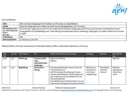 Fahrplan für Workshop, Seminar und Co. | Hilfe für die inhaltliche Planung