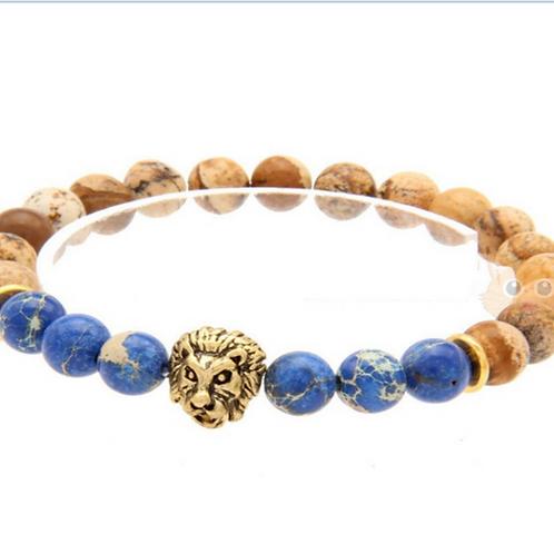 Blue Lion Bracelet