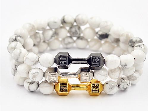 Triple White Bracelet