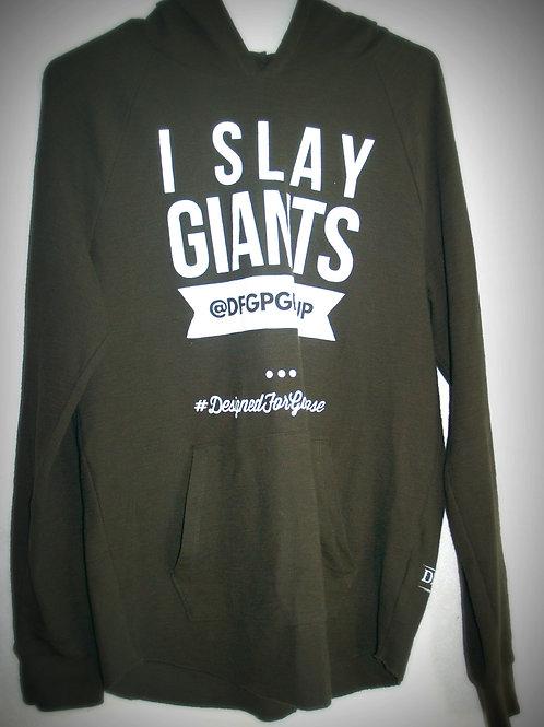I Slay Giants Sweater Olive Green