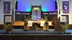 Altar during Easter